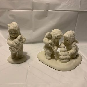 Snowbabies We'll Plant the Starry Pines Figurine